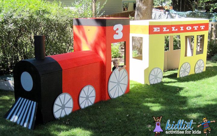 How to Make a Cardboard Train
