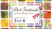 Art festivals in the Chicago area - watercolor blocks with text