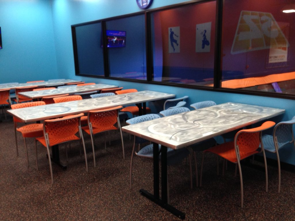 sky zone party room