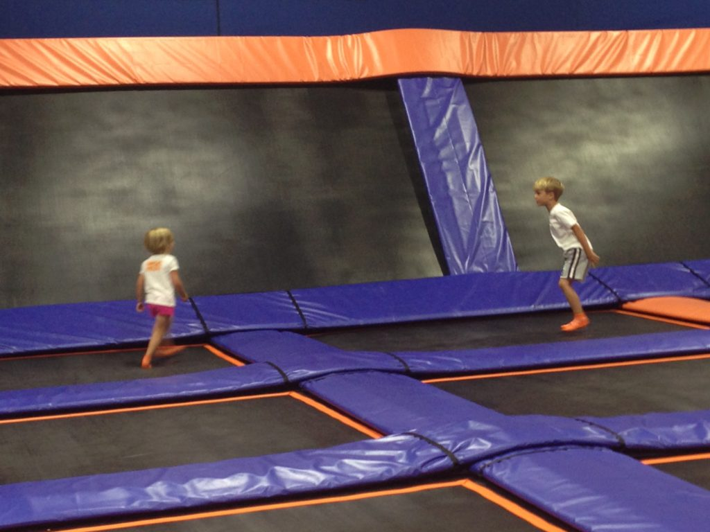 sky zone jumping