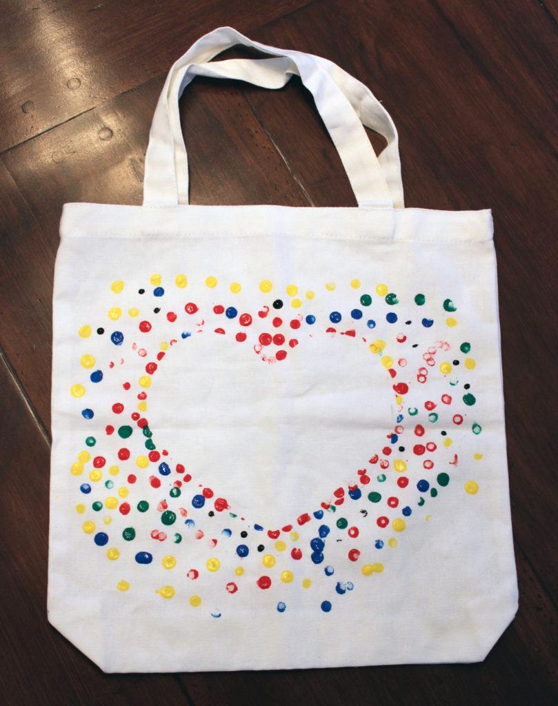 heart canvas bag