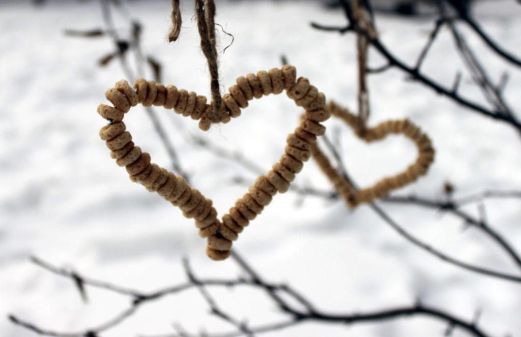 cheerio valentine hearts outside