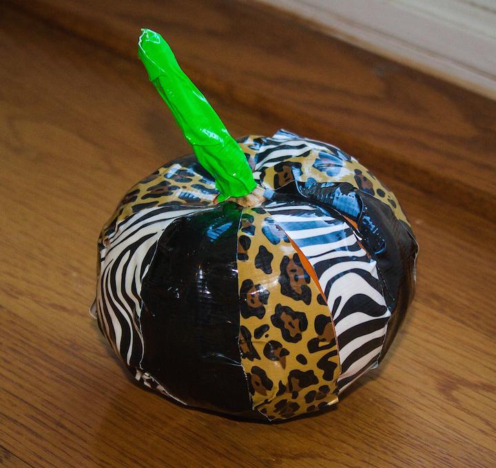 kidlist duct tape pumpkin