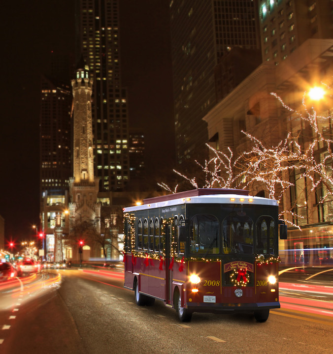Chicago Trolley S Holiday Lights Tour Kidlist Activities For Kids