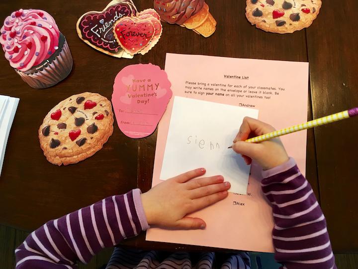 writing valentine's