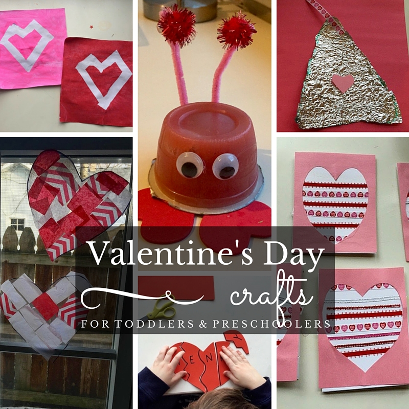 Valentine's Day Crafts for Toddlers and Preschoolers