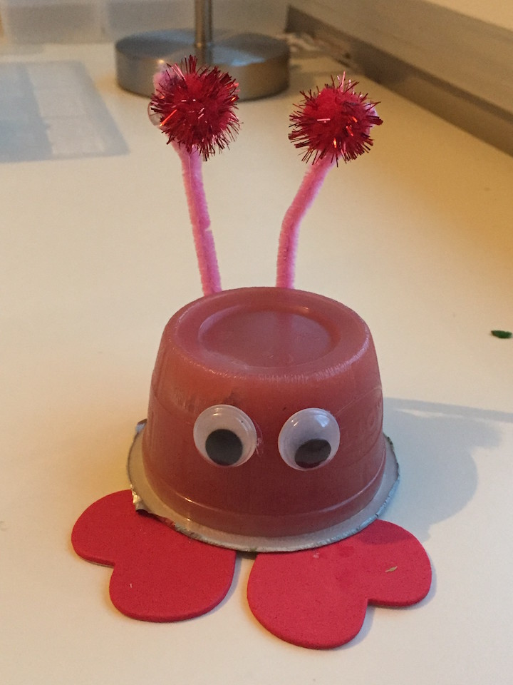 love bug fruit cup valentine