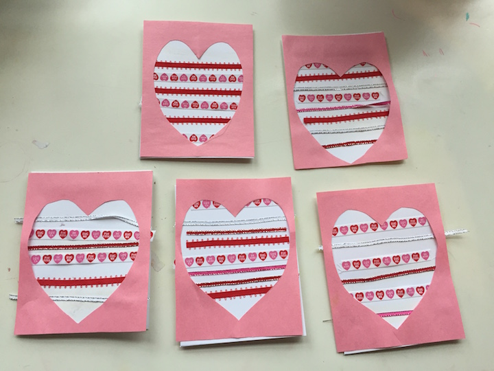 ribbon heart cards kidlist