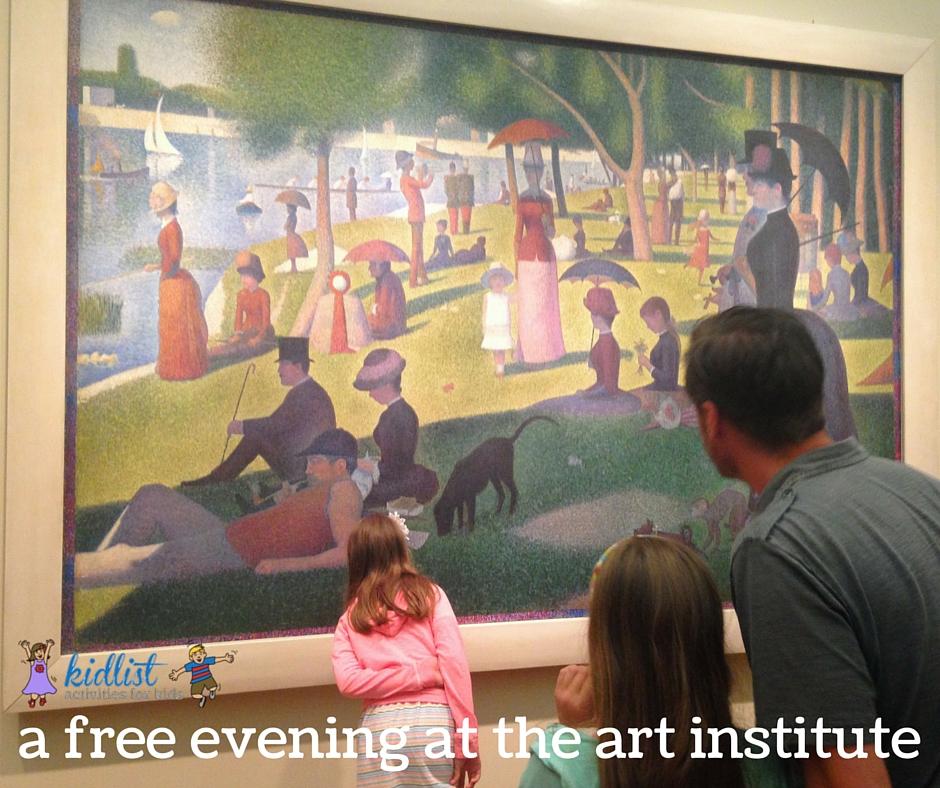 art institute free evening