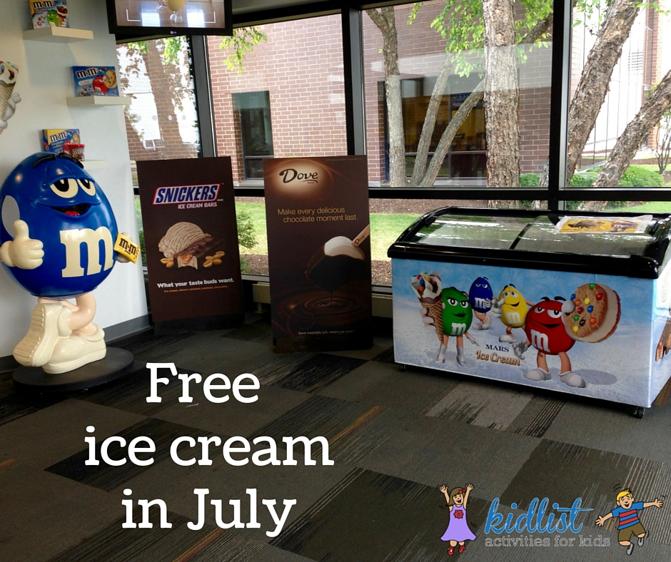 Free ice cream in July
