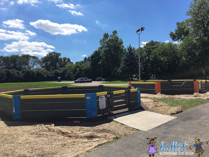 There are also two gaga ball pits with a recycled rubber surface.
