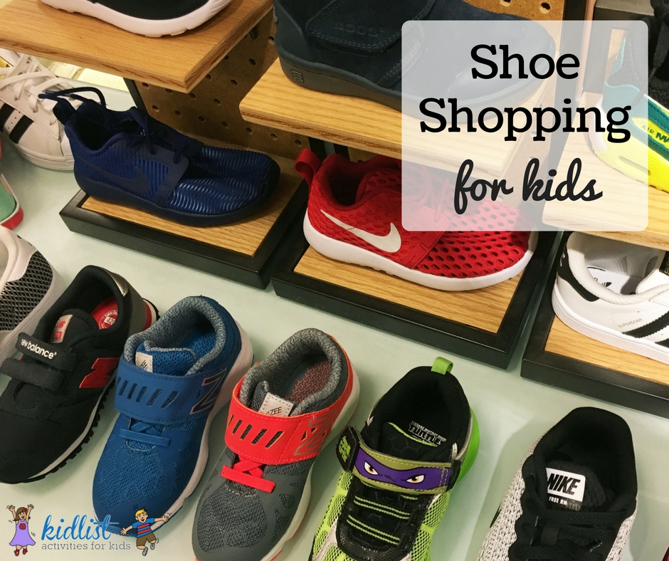 shoe shopping for kids
