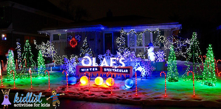 760 Hillside Avenue in Elmhurst Olaf's Winter Spectacular includes a 3 foot  tall ice skating Olaf! Their love of Disney inspired them to put the show  to ... - 2018 Best Christmas Lights In The Western Suburbs - Kidlist