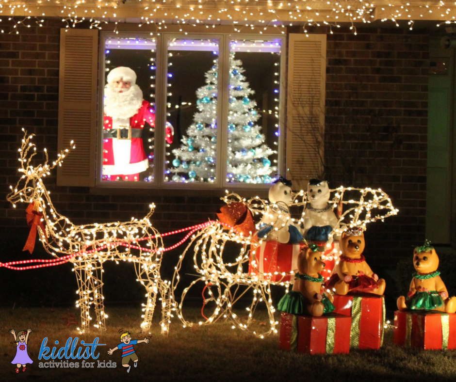 best christmas lights in the western suburbs kidlist activities for kids - Indoor Decorations Christmas Village