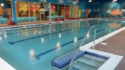 Indoor pool with children's swimming lessons