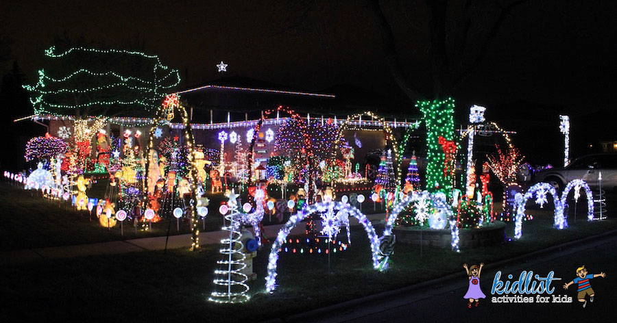 There is tons to look at and enjoy at this lights display. Pull over and  enjoy the layers of lights, figurines, and decorations! - Best Christmas Lights In The Southwest Suburbs Of Chicago (with Photos!)