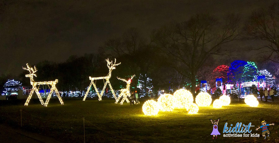 Gigantic Reindeer Light Displays