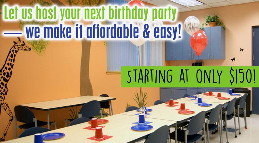 Romeoville Recreation Department Birthday Parties