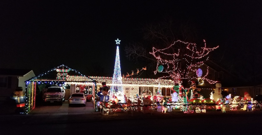 photo courtesy of the homeowner, Scott O'Connor Jr. - Best Christmas Lights In The Southwest Suburbs Of Chicago (with Photos!)