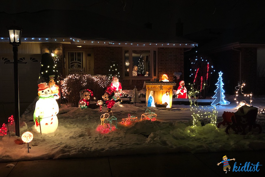 2018 Best Christmas Lights in the Western Suburbs - Kidlist R Heights Christmas Lights Map on